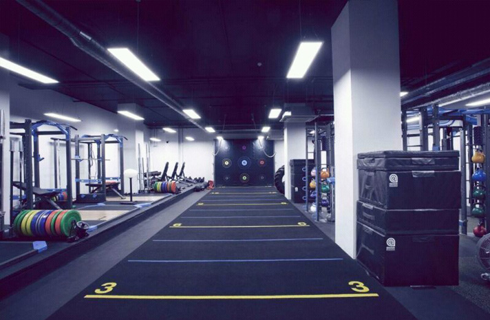 Carpet track in the gym