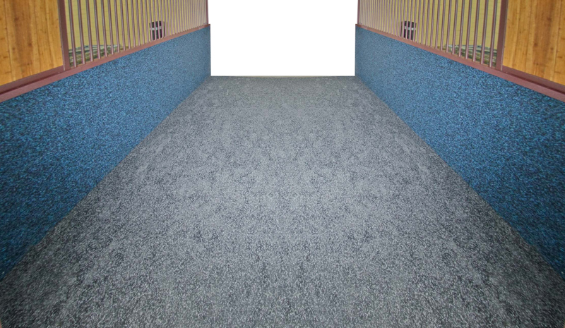 Rubber floor and wall covering