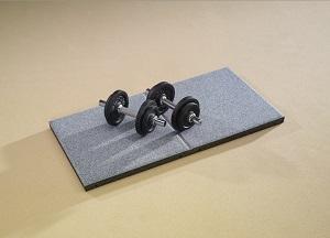 Free weight / gym flooring tiles