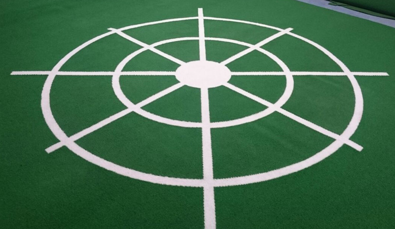 MnD Sports Carpet with bespoke markings