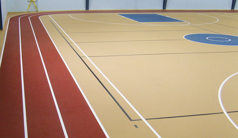 multipurpose seamless sports flooring - running track