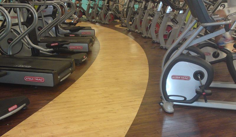 Virgin Active gym flooring