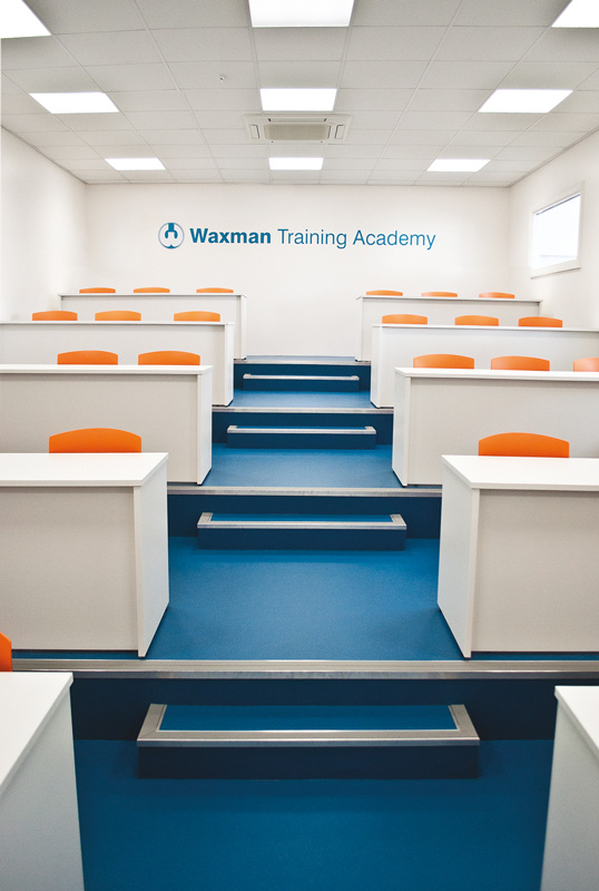 Commercial office flooring for Waxman